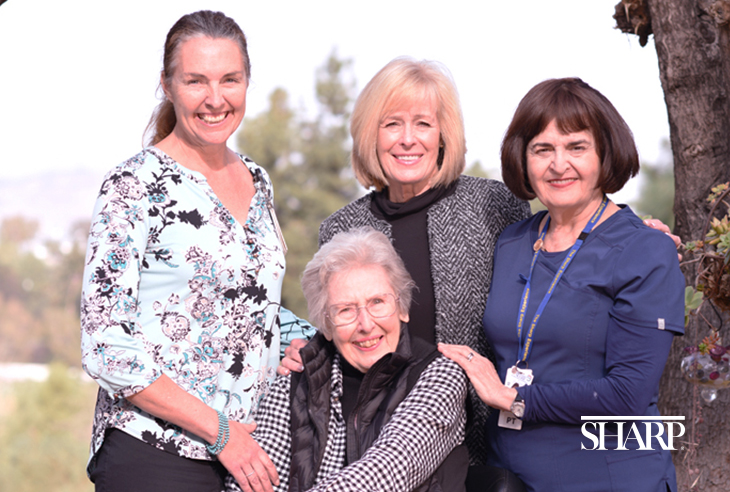 Joan Arant, Dianne McCann, Rena Carlson and Claire Sigal