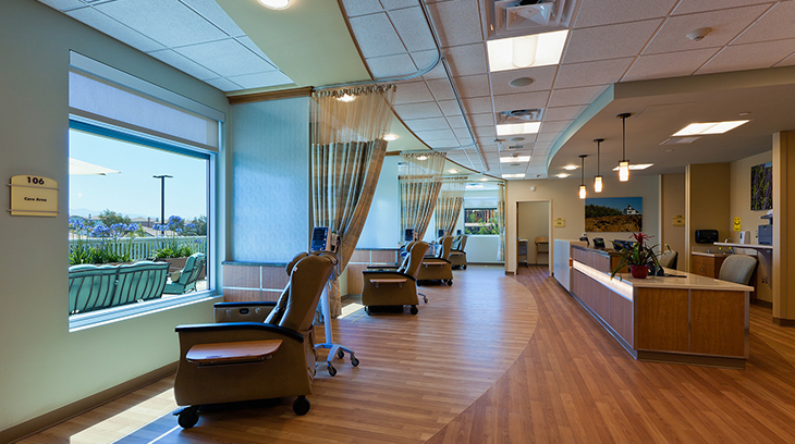 Infusion center at Barnhart Cancer Center