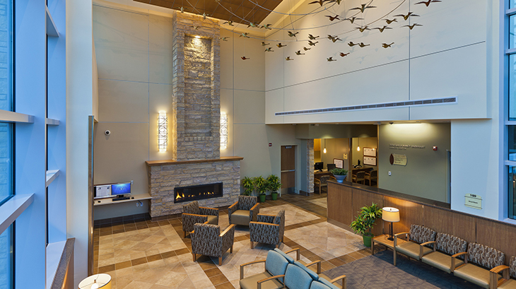 Lobby at Barnhart Cancer Center