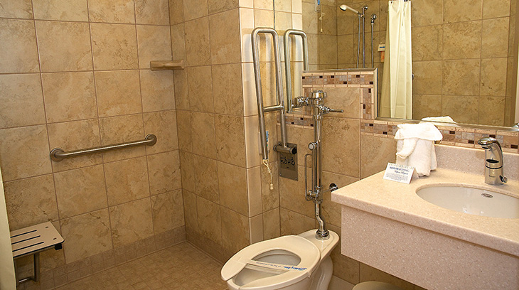 Private patient bathroom