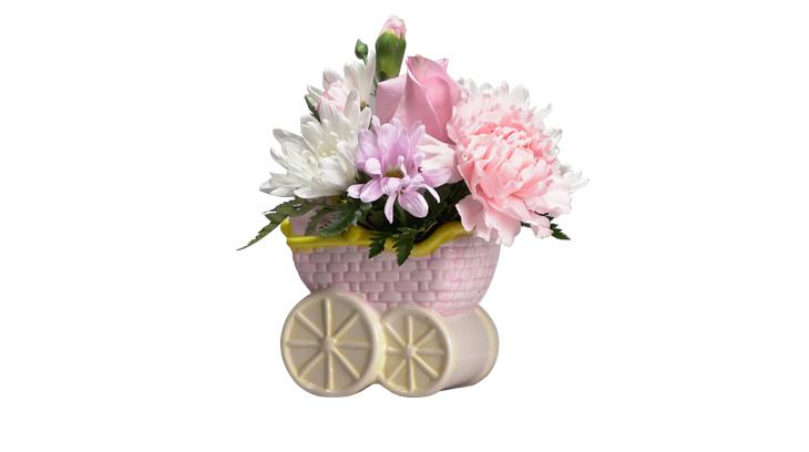 Baby girl flower arrangement