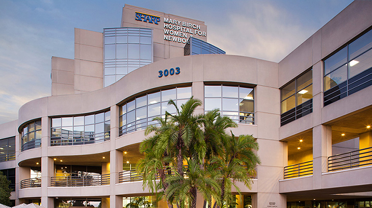 Sharp Mary Birch Hospital for Women & Newborns is the only women's hospital in San Diego County