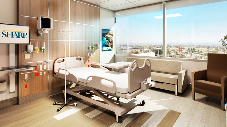 All patient rooms will be private to allow for privacy, increased safety and greater patient-family interaction