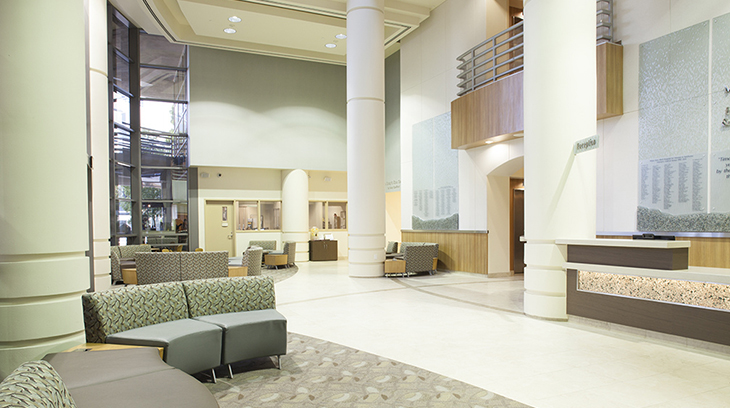 Lobby of Sharp Mary Birch Hospital for Women & Newborns