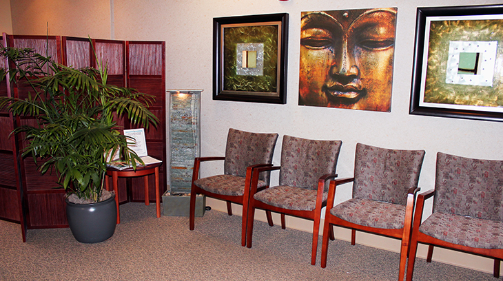 Cushman Wellness Center waiting area