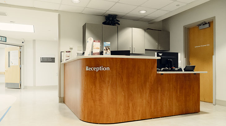 Women's and Infants' Services reception