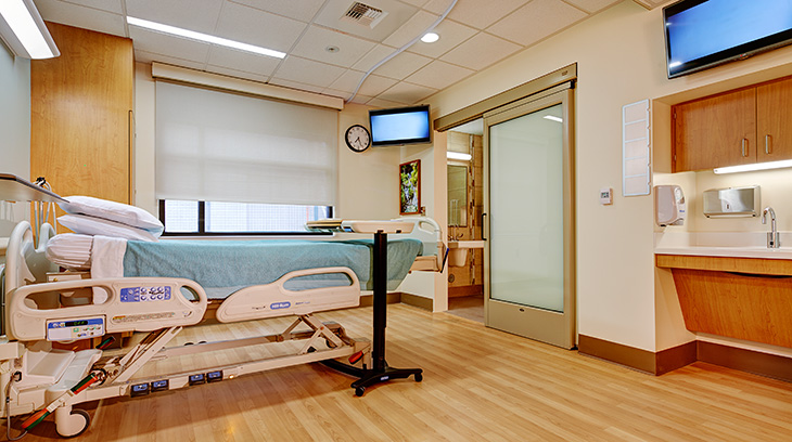 Patient room, Sharp Allison deRose Rehabilitation Center