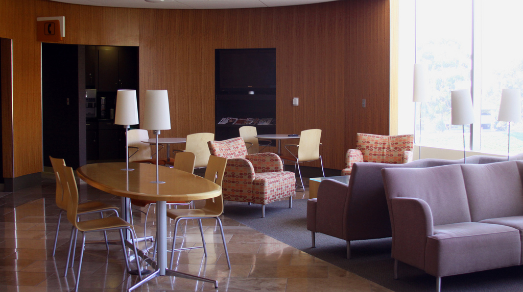 Family lounge at Sharp Memorial Hospital