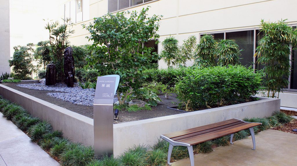 Jade garden at Sharp Memorial Hospital