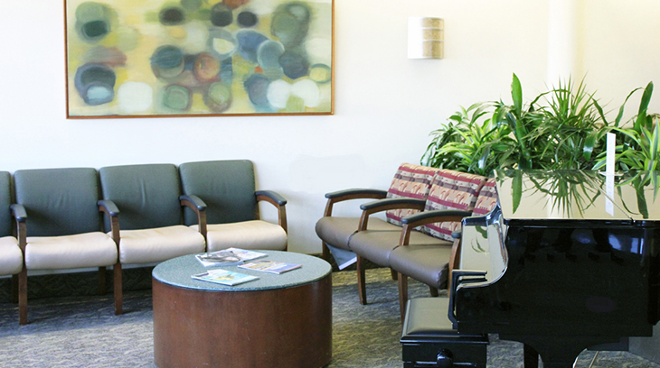 Main lobby of Sharp Grossmont Hospital