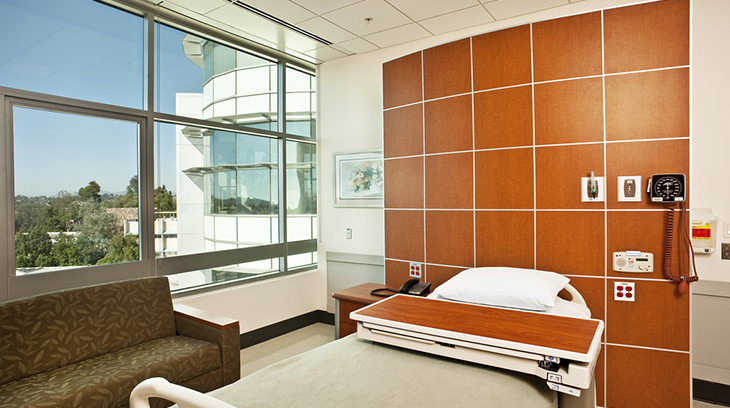 West tower patient room at Sharp Grossmont Hospital